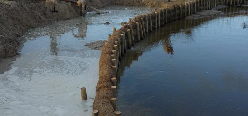 Restauración de erosión en playa