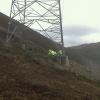 Plantación en linea eléctrica de alta tensión