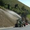 Hidrosiembra de talud de carretera